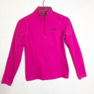 The North Face | Pink 1/4 Zip Up Fleece Jacket